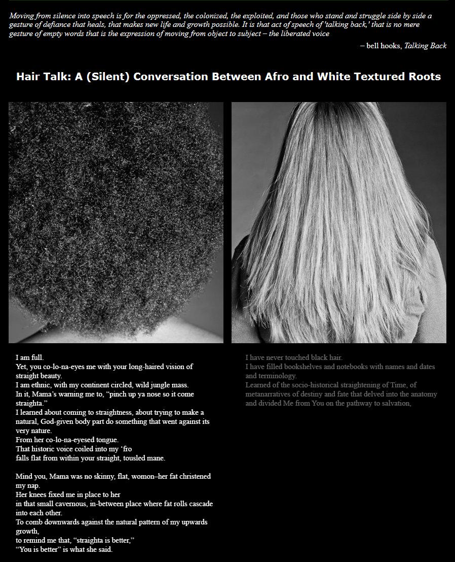 feral feminisms » HAIR TALK: A (SILENT) CONVERSATION BETWEEN AFRO ...